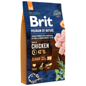 Brit PREMIUM BY NATURE SM Senior SMALL MEDIUM 15kg