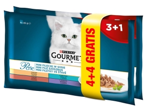 Gourmet PERLE Mini Fileciki w SOSIE 4x85g + 4 GR.
