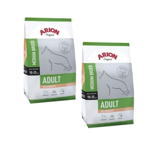 Arion Adult Medium Breed Salmon Rice 24 kg 2x12kg