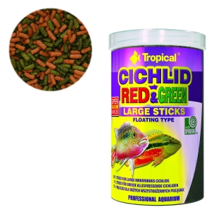 CICHLID RED & GREEN LARGE STICKS 1000ML/300G