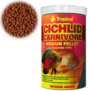 CICHLID CARNIVORE MEDIUM PELLET 1000ML/360G