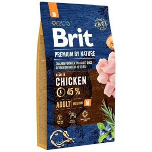 Brit PREMIUM BY NATURE M Adult MEDIUM 15kg