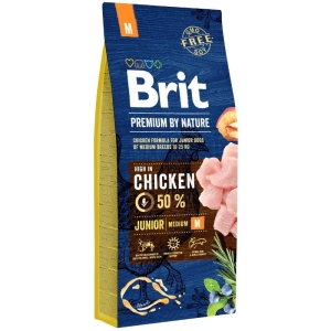 Brit PREMIUM BY NATURE M Junior MEDIUM 15kg
