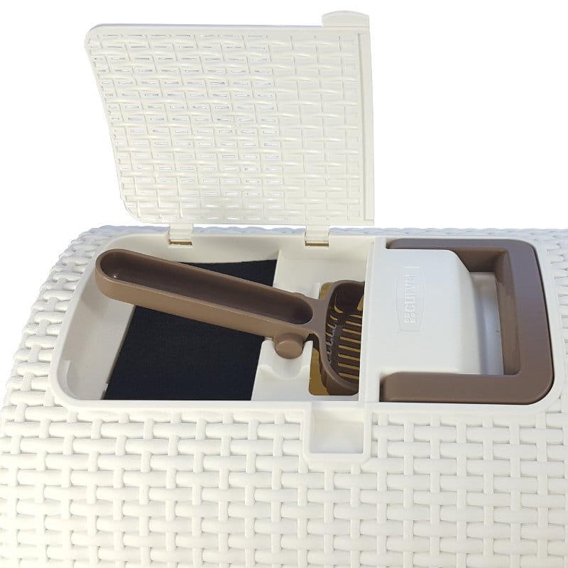 ba78012e0c3688 Toaleta curver w Merdam.pl · W zestawie: toaleta, kuweta, łopatka, filtr.  Kremowa toaleta, brązowa łopatka ...